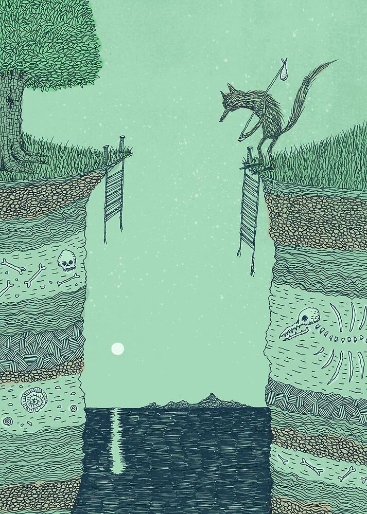 Broken Bridge (Colour) by Alex G Griffiths