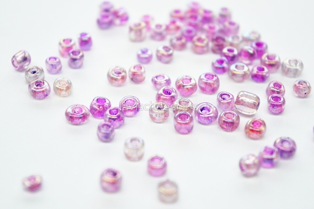 Pink and purple beads by lavischdesigns