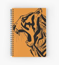 Tiger Vector Spiral Notebook