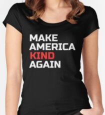Make America Kind Again - Not My President, Womens March Women's Fitted Scoop T-Shirt