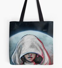 She is one with the Force... Tote Bag