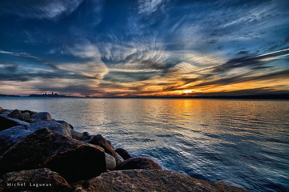 Sunset quebec by Michel Lagueux