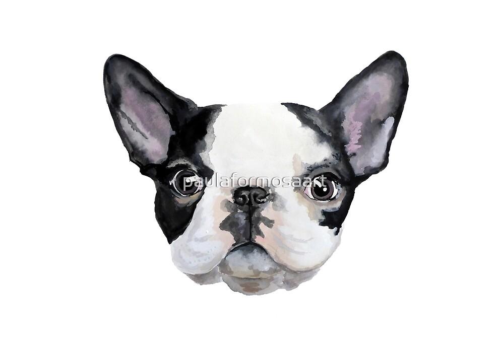 French Bulldog Watercolour Painting Print by paulaformosaart