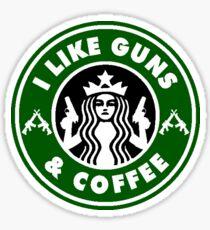 I Like Guns & Coffee Sticker