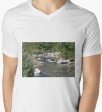 setcases river Men's V-Neck T-Shirt