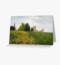 Wildflower meadows lead to Downton abbey Greeting Card