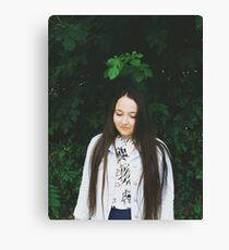 teen & leaves Canvas Print