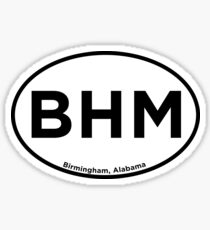 Birmingham Alabama Airport Code BHM Sticker