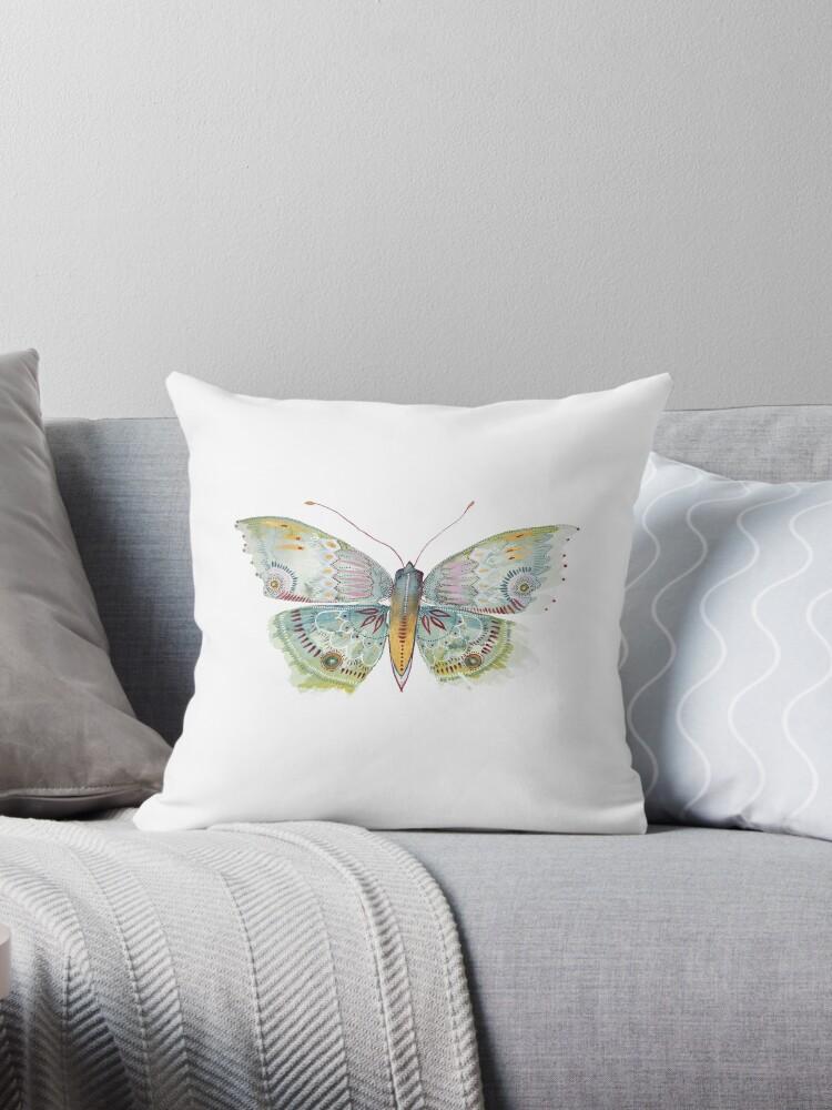 Butterfly Moth Green Detail by paulaformosaart