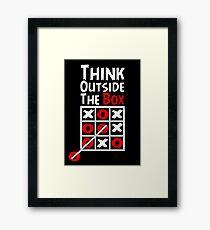 Think Outside the Box - X O games Fun by Aariv Framed Print