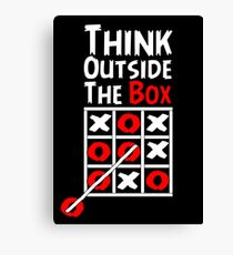 Think Outside the Box - X O games Fun by Aariv Canvas Print