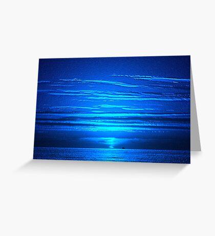 Sunset Blues Greeting Card