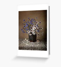 Blue and white bouquet Greeting Card