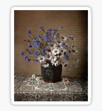 Blue and white bouquet Sticker