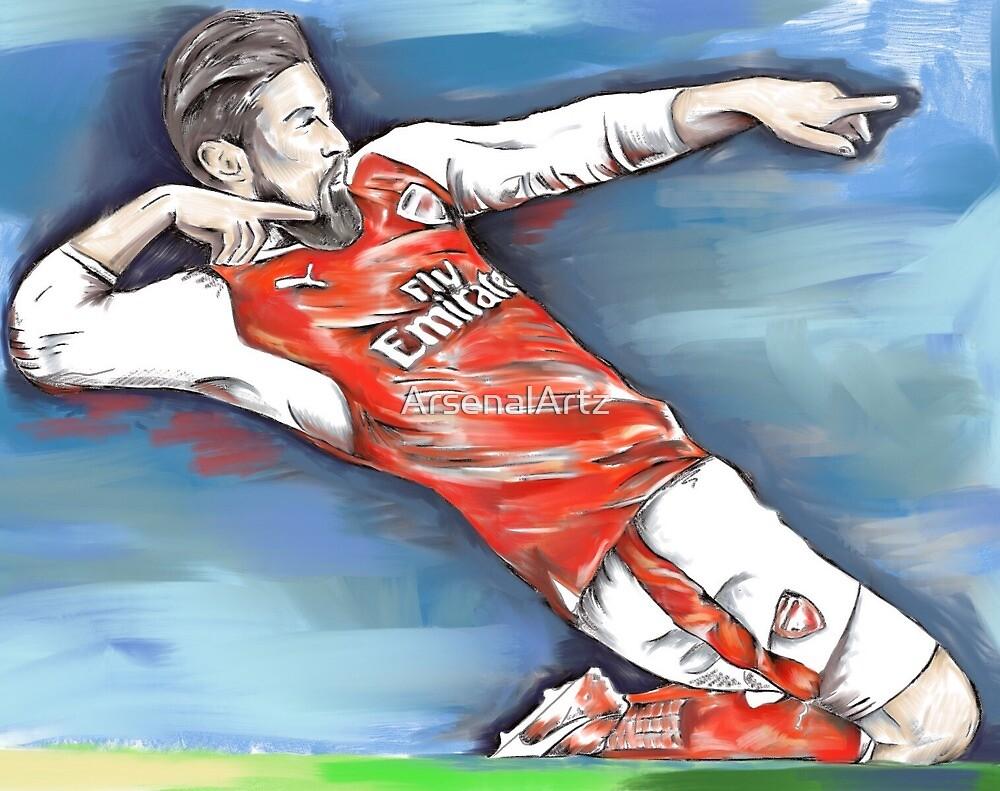 Giroud Celebration by ArsenalArtz