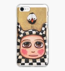 The Harlequin girl & crow iPhone Case/Skin