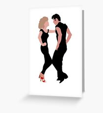 Grease Dancing Danny and Sandy Greeting Card