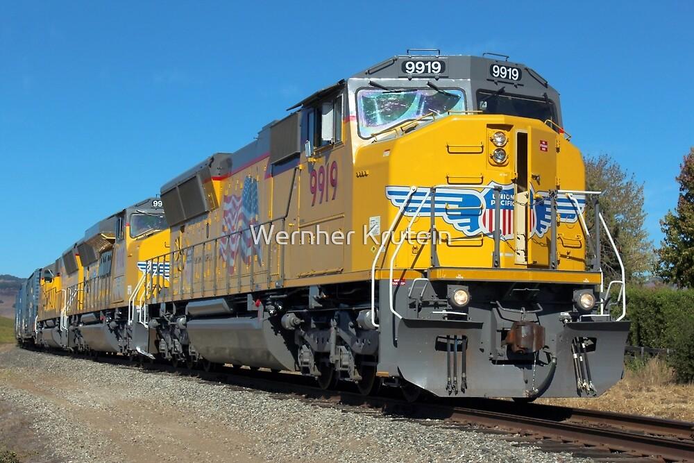 Diesel Locomotive UP 9919, SD59MX, Union Pacific Railroad, Napa, California  by Wernher Krutein