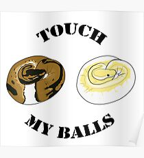 Ball Python T-shirt - Touch Poster