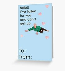 Life Alert Valentine Card Greeting Card