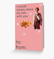 Napoleon Dynamite Tater Tots Valentine Card Funny Greeting Card