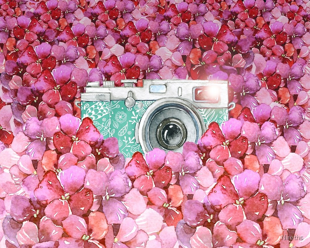 Camera in Flowers by Nireths
