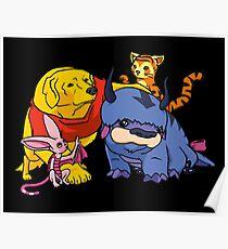 Naga the Poohlar Bear Dog & Friends Poster