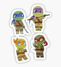 Chibi TMNT Sticker Set Sticker