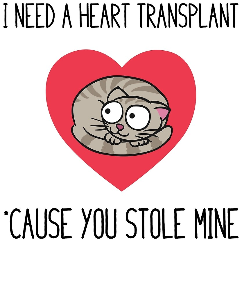 Cat In Heart: I Need A Transplant  by FanaticsTees