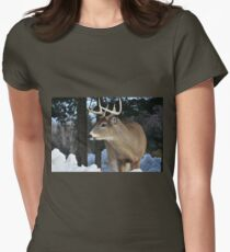 White Tail Deer Women's Fitted T-Shirt