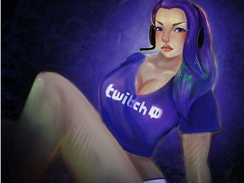 social media - twitch.tv girl by Abby Brown