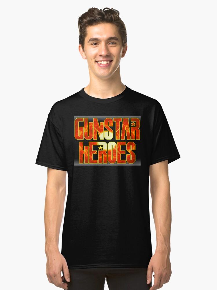 Gunstar Heroes (Genesis Title Screen) Classic T-Shirt Front