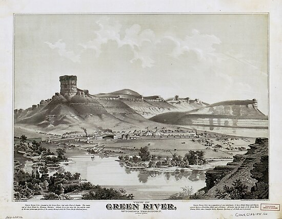 View of Green River, Wyoming Territory (1875) by allhistory