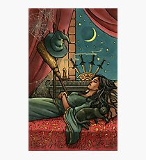 Everyday Witch Tarot - Four of Swords Photographic Print
