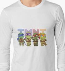 Chibi Heroes in a Half-Shell Long Sleeve T-Shirt