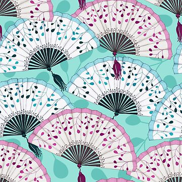 Oriental Hand Fan Pattern by daniteal
