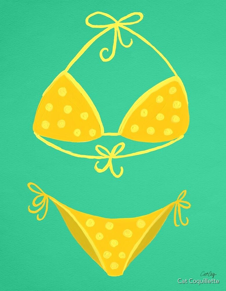 Bikini De Menta» Cat CoquilletteRedbubble Amarillo En Lunares O0mvN8wn