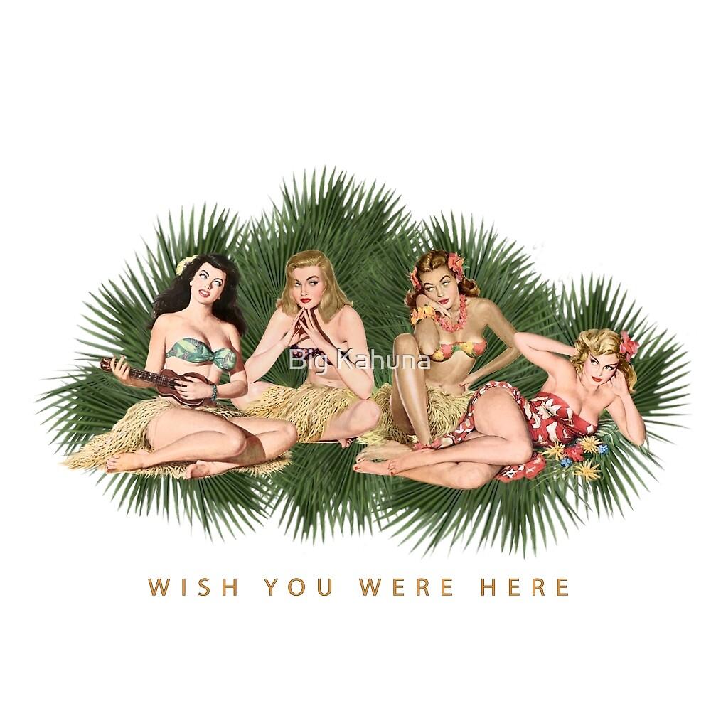 Beautiful Hula Girls Wishing You Were Here by Big Kahuna
