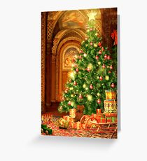 Christmas Tree and Presents Greeting Card