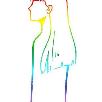 Rainbow Girl by Obcultatio