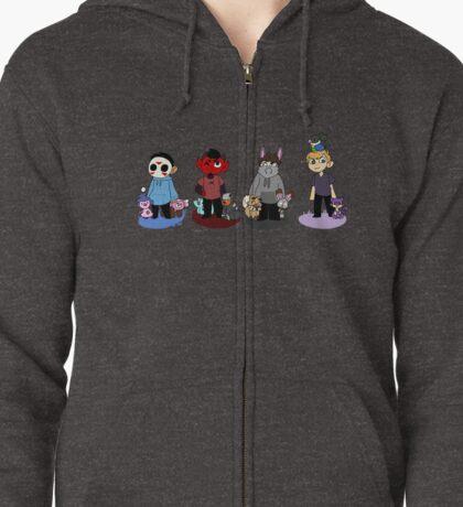 Pokemon companions!  Zipped Hoodie