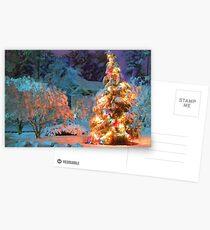 Snowy Christmas Tree Postcards