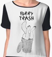 Furry Trash - White/Arctic Wolf Women's Chiffon Top