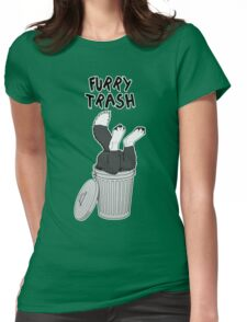 Furry Trash - Border Collie Womens Fitted T-Shirt