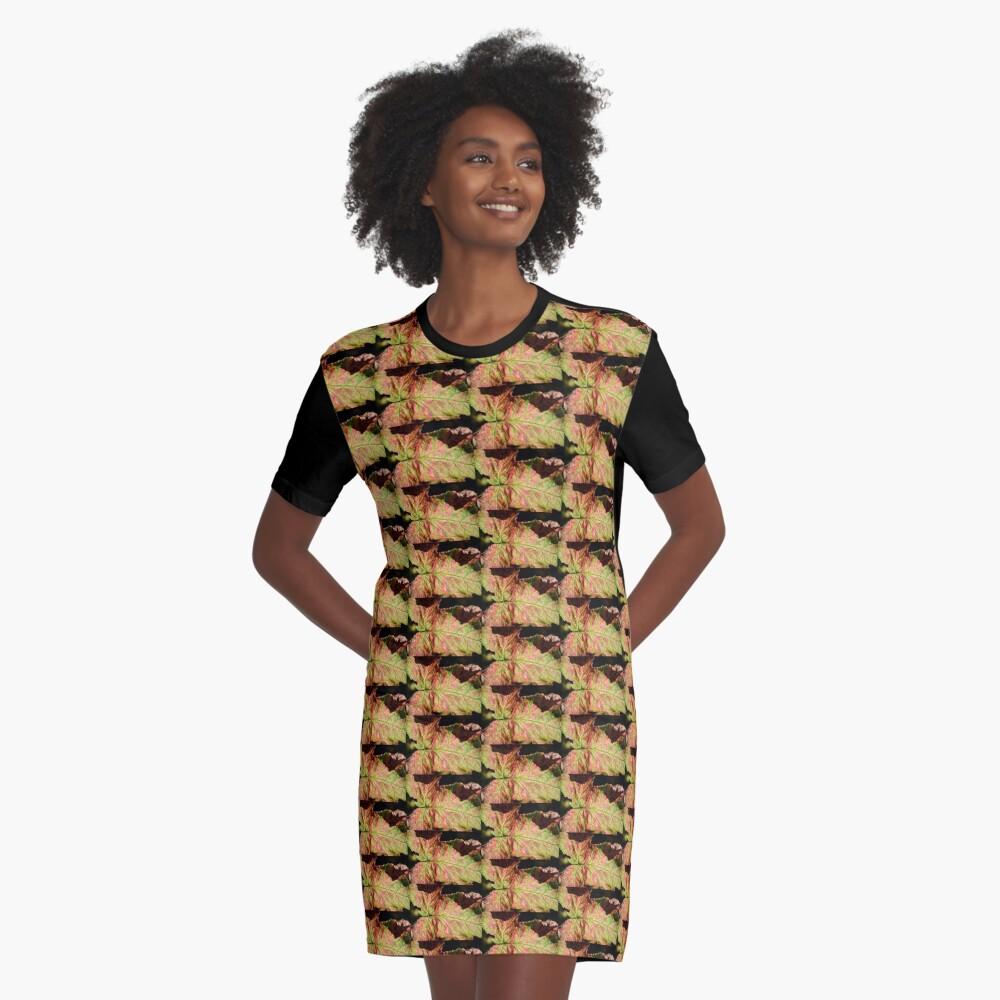 LEAF Graphic T-Shirt Dress Front