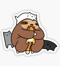 Sloth Love Cats Sticker