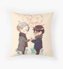 Just Engaged (Vikturi) Throw Pillow