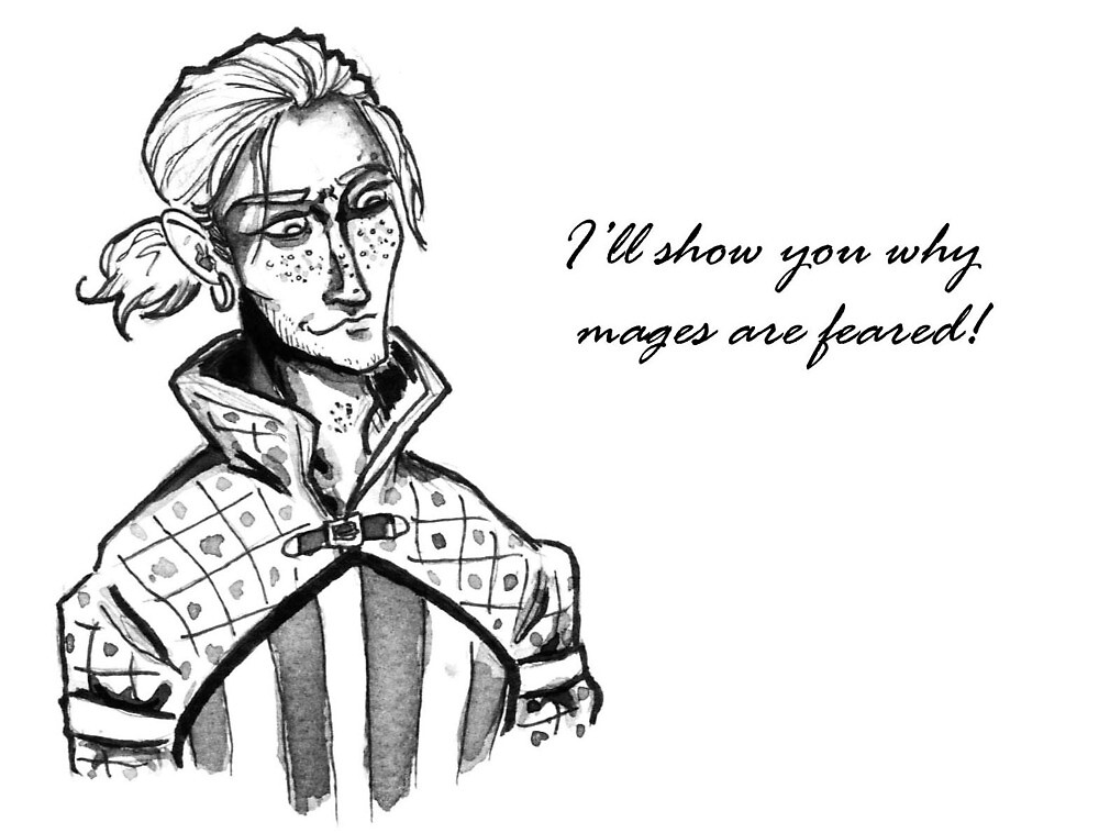 Anders - I'll show you why mages are feared! by ithinktsdashing