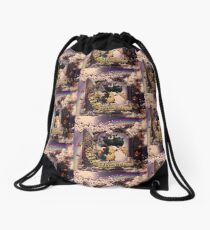 Draco the Dragon abstract in window Drawstring Bag
