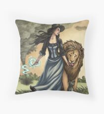 Everyday Witch Tarot - Strength Throw Pillow